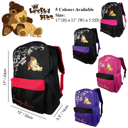 LOVELY BEAR 12459HS SCHOOL BAG/ LEISURE/ TRAVEL BACKPACK