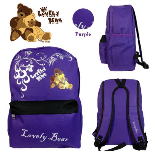 LOVELY BEAR 12459HS SCHOOL BAG/ LEISURE/ TRAVEL BACKPACK