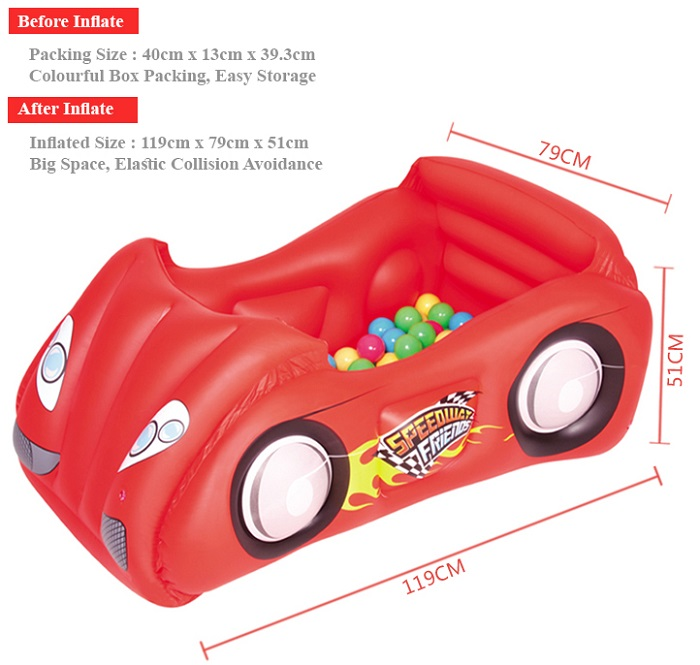 BESTWAY INFLATE KIDS RACE CAR