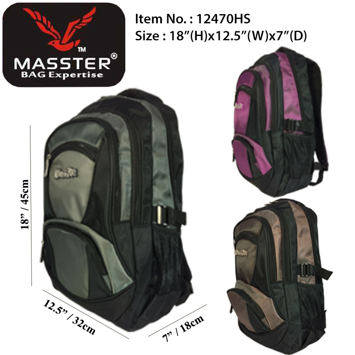 Masster 12470HS School Bag/ Leisure/ Travel Backpack