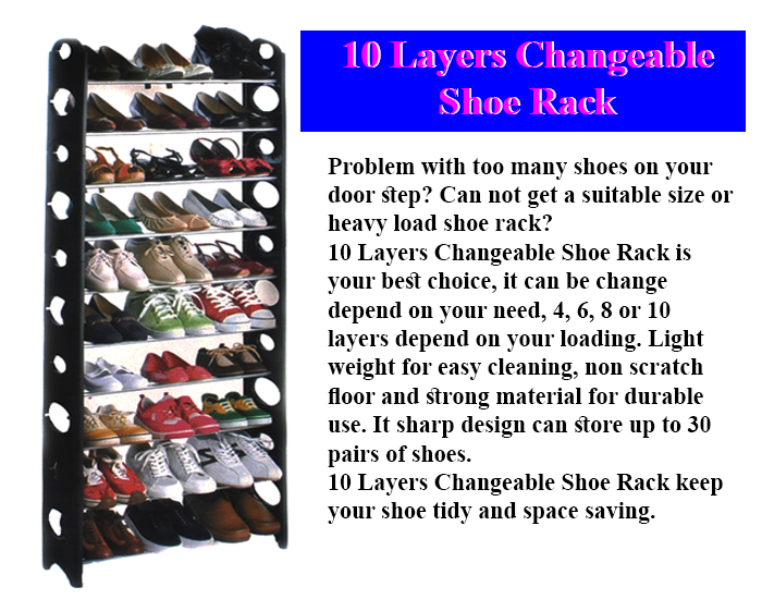 4 Layers Stackable Shoes Rack