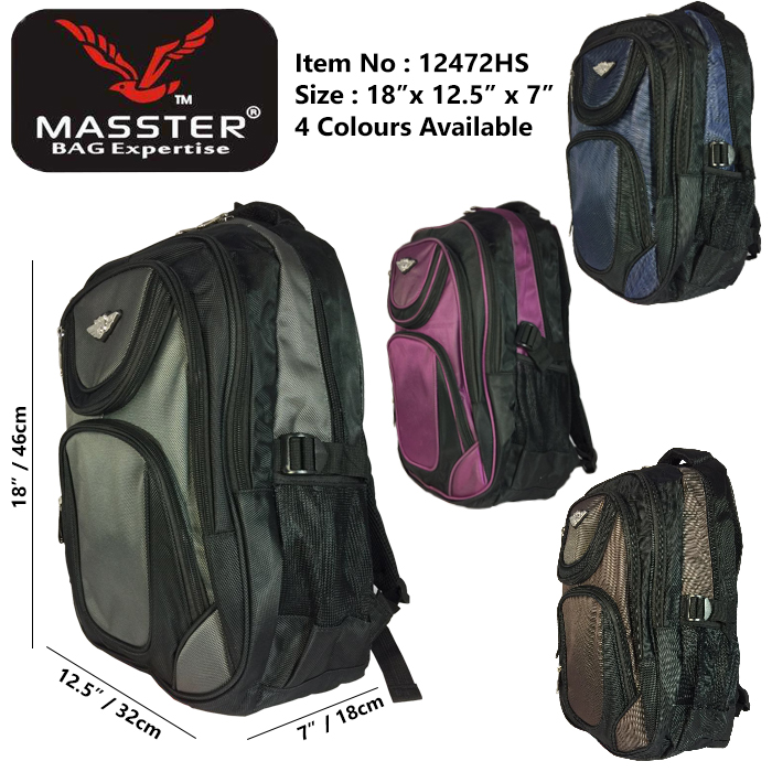 Masster 12472HS School Bag/ Leisure/ Travel Backpack