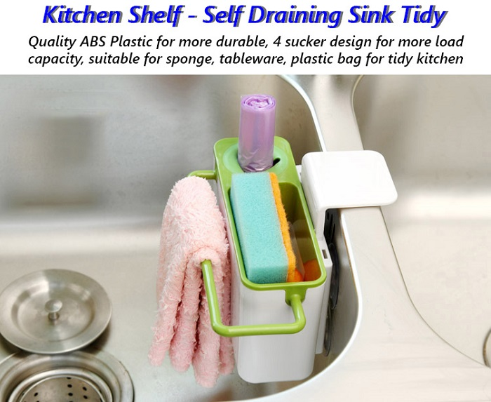 Kitchen Shelf - Self-Draining Sink Tidy