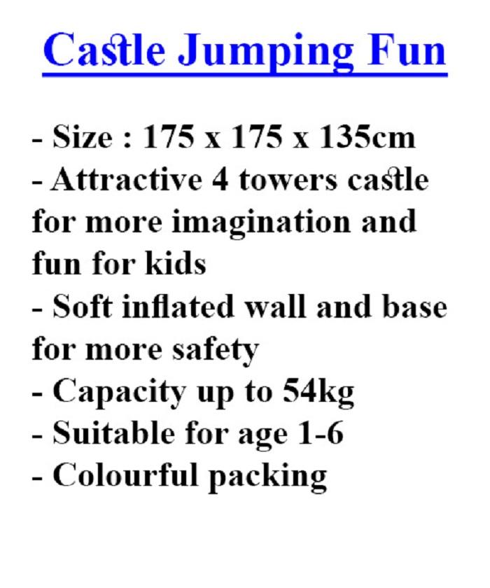 INTEX #48259 INFLATE KIDS FUN CASTLE JUMP