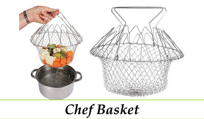 Chef Basket -12 in 1 kitchen tool (Deep Fry/Steam/Rinse)