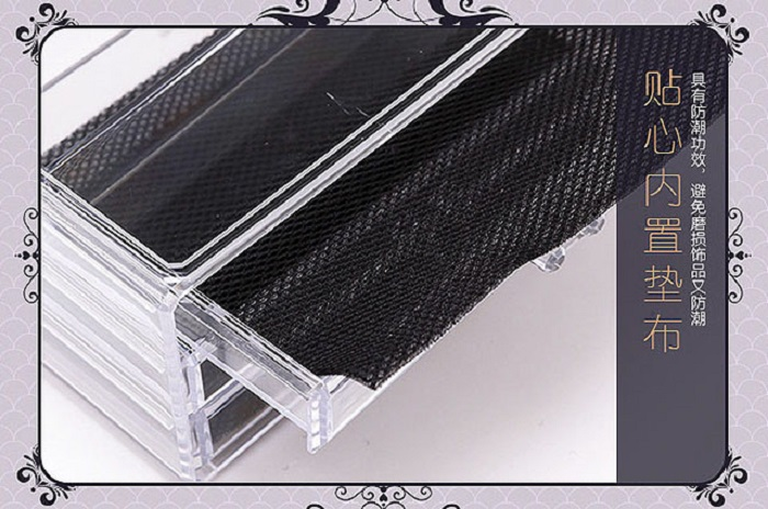 Acrylic Cosmetic Makeup 3 Drawer Large Case Jewelry Organizer Code 8803-2