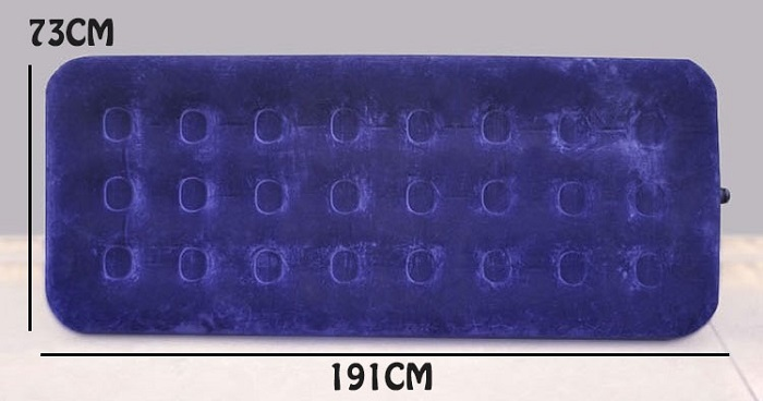 Jilong Flocked Coil Beam Inflatable Single Air Bed Mattress