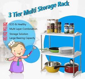 3 Tier Multi Storage Rack