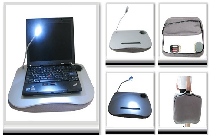 Portable Laptop Cushion with Light