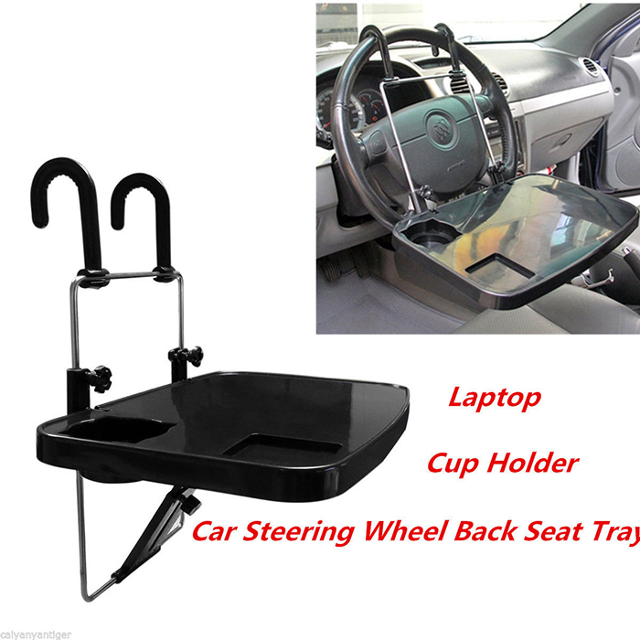Car Laptop Stand Notebook Desk Steering Wheel Food Drink Holder Tray