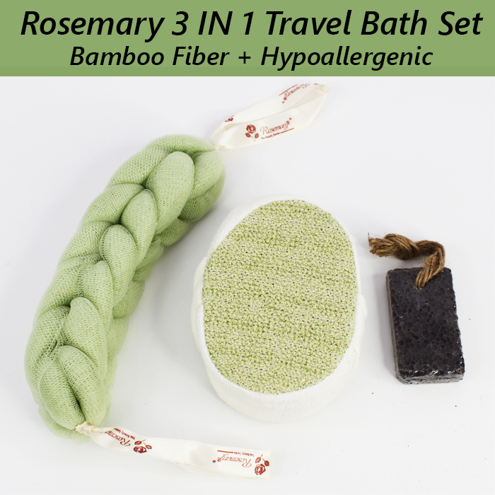 Rosemary 3 In 1 Travel Bath Set