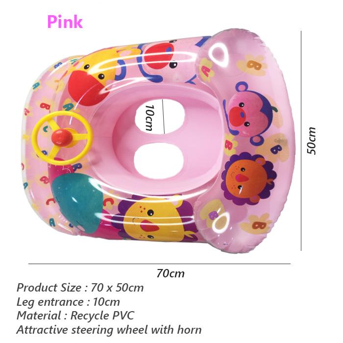 ABC Fashion Baby Swimming Ring Safety Swim Children Inflatable Swim Pool Boat