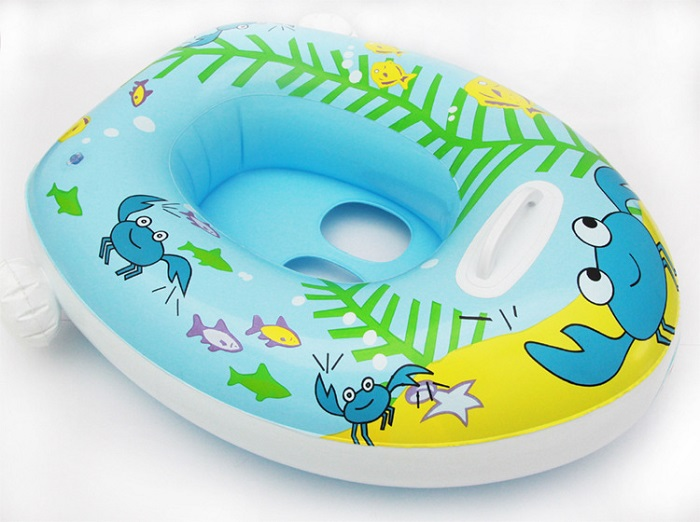 Oceon Children Inflatable Pool Boat With Sun Shade + Foot Pump