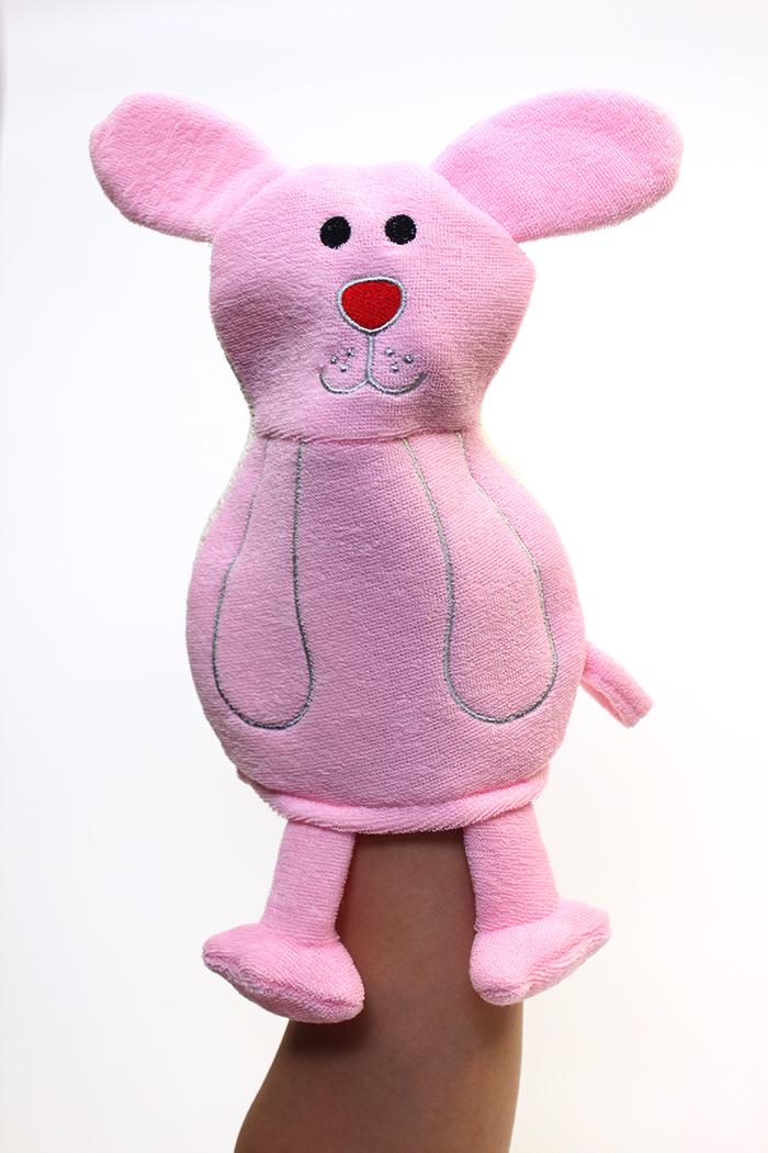Rosemary Bunny Bath Scrubber Glove