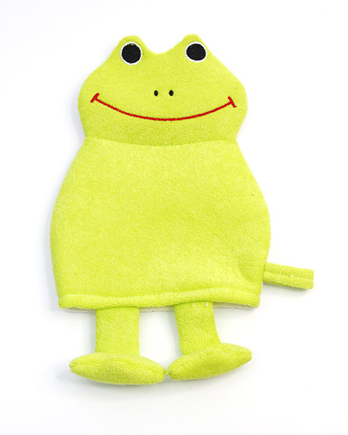 Rosemary Froggy Puppets Bath Scrubber Glove