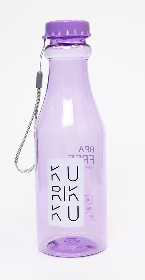 KURIKKU Purple BPA Free Candy Colour Water Bottle 650ml