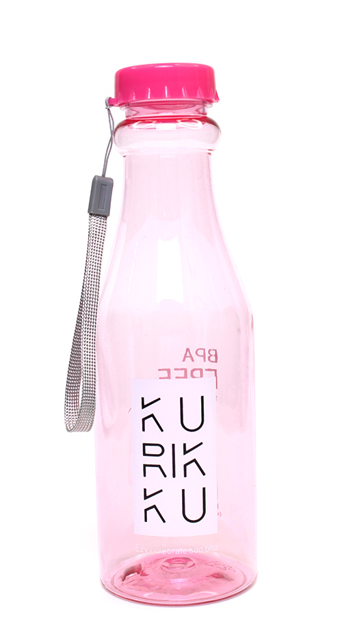 KURIKKU Pink BPA Free Candy Colour Water Bottle 650ml