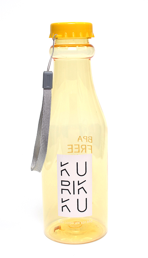 KURIKKU Yellow BPA Free Candy Colour Water Bottle 650ml