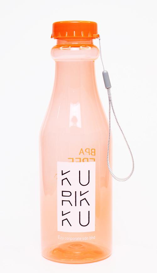 KURIKKU Orange BPA Free Candy Colour Water Bottle 650ml