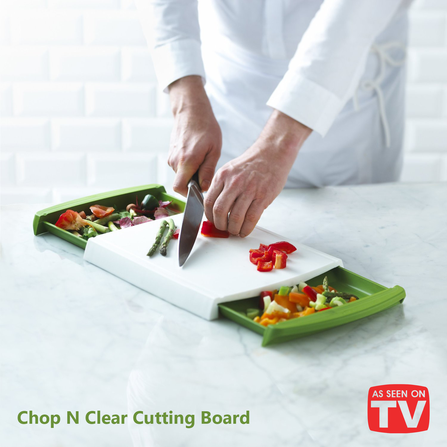 Chop n' Clear Cutting Board