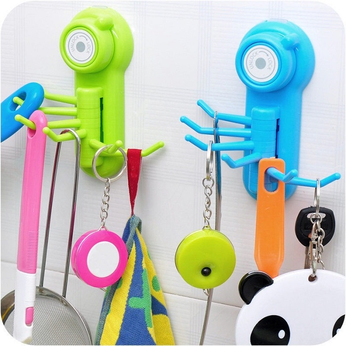 Suction Cup Wall Hanger Hook Organiser Suction Cup Sucker Washcloth Towel