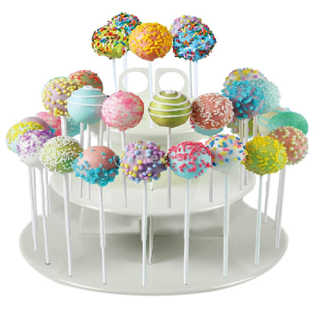 3 Tiers Cake Pop & Cupcake Stand Holder Tower Lollipop Holder Cake Display