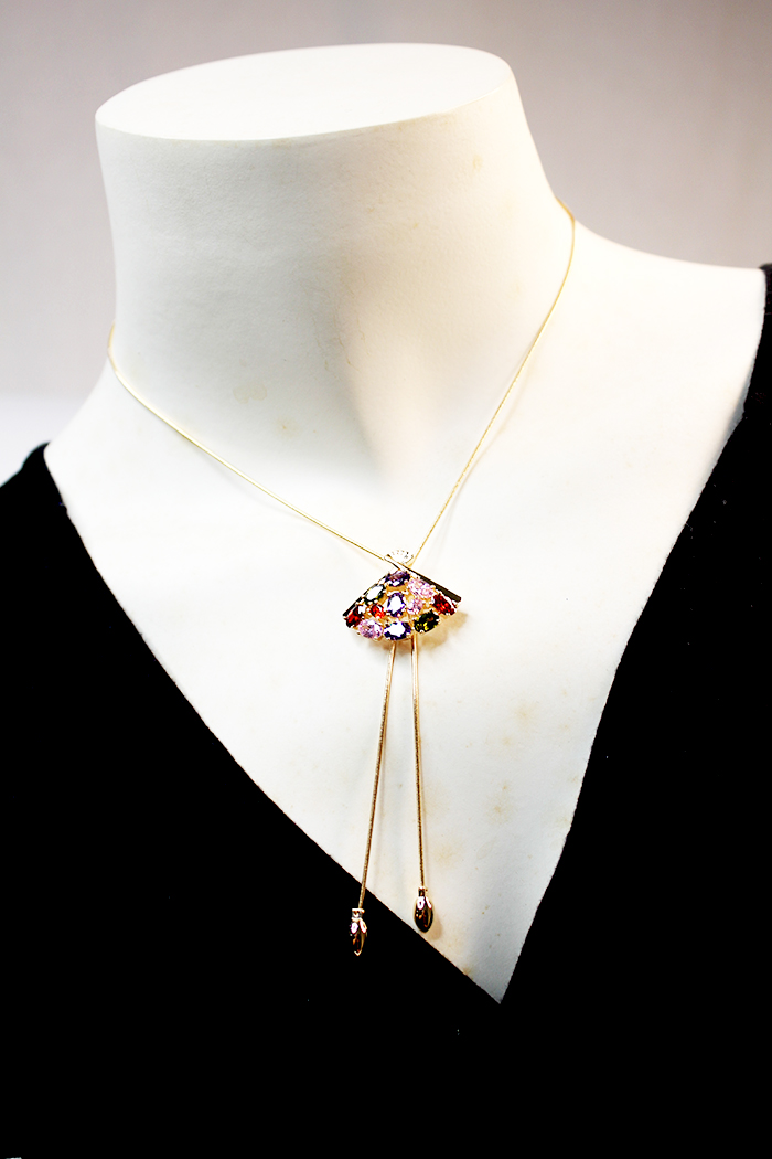 Oriental Fan Adjustable Necklaces
