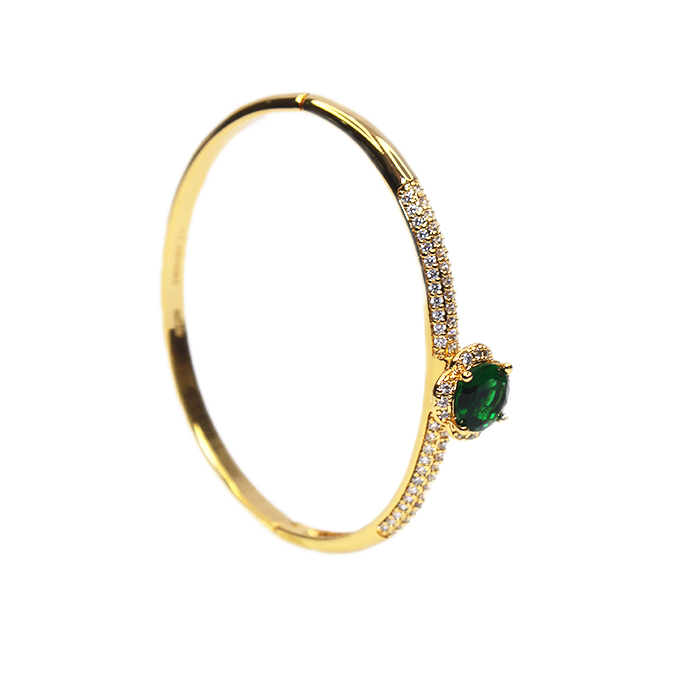 Oasis Green Eye Clip On Bangle Bracelet