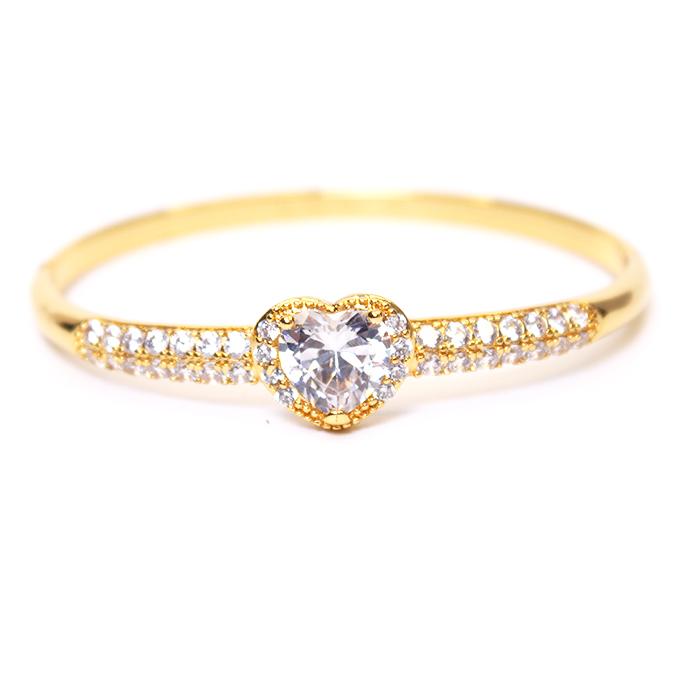 Love Heart Clip On Bracelet Bangle