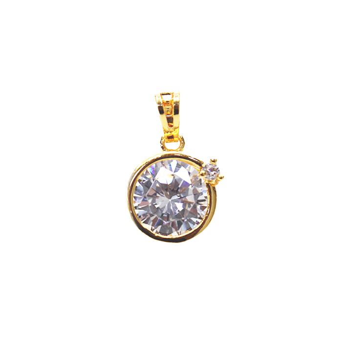 24K Golden Eye Necklace Pendants