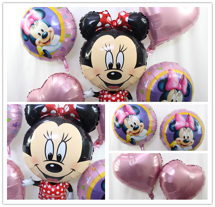 Foil Balloons Party Set (5pcs in 1)  -Minnie Mouse