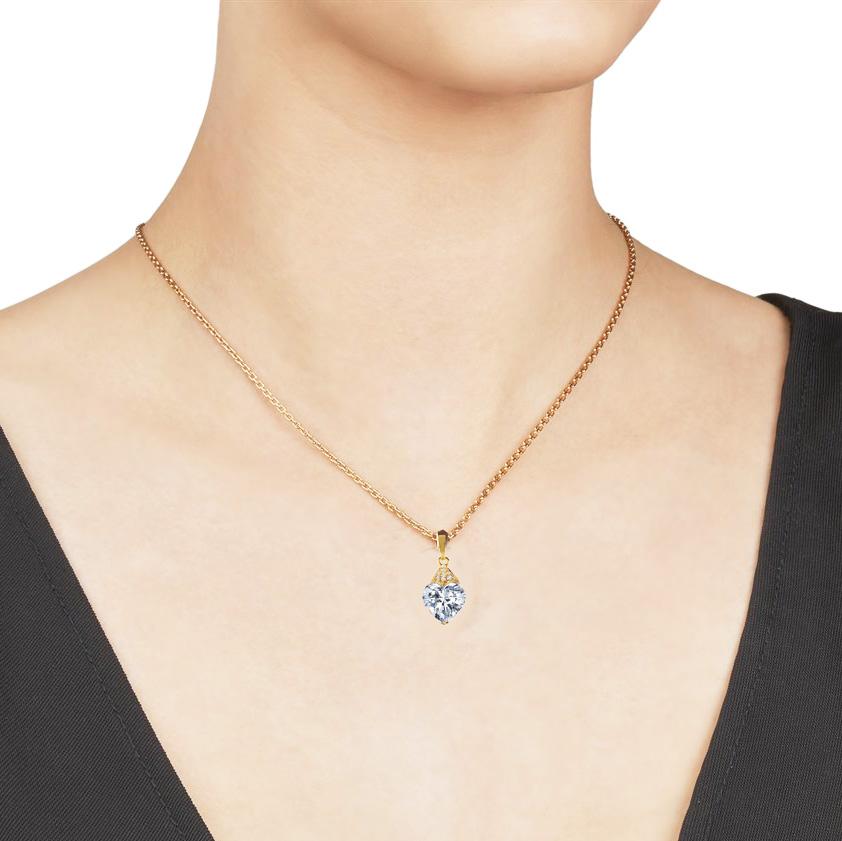 24K Gold Pure Heart Necklace Pendant