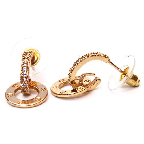 Intarsio Gold Earrings