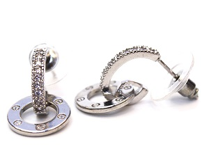 Intarsio Silver Earrings