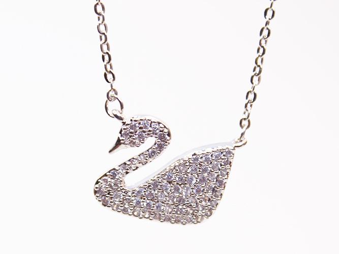 Silver Swan Necklaces