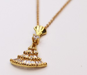 Gold Graceful Dancing Grown Necklaces