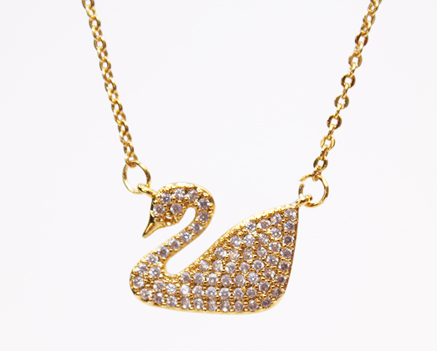 Gold Swan Necklaces