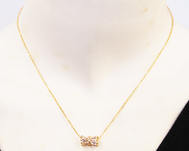 Gold Sylinder Wrap Necklaces