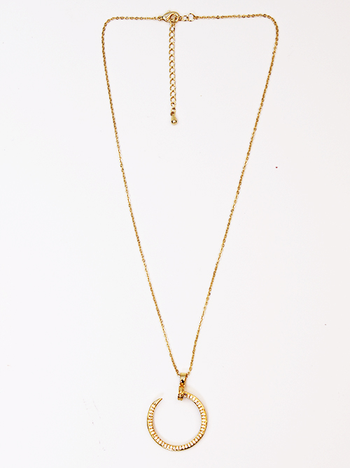 Round Gold Nail Necklaces