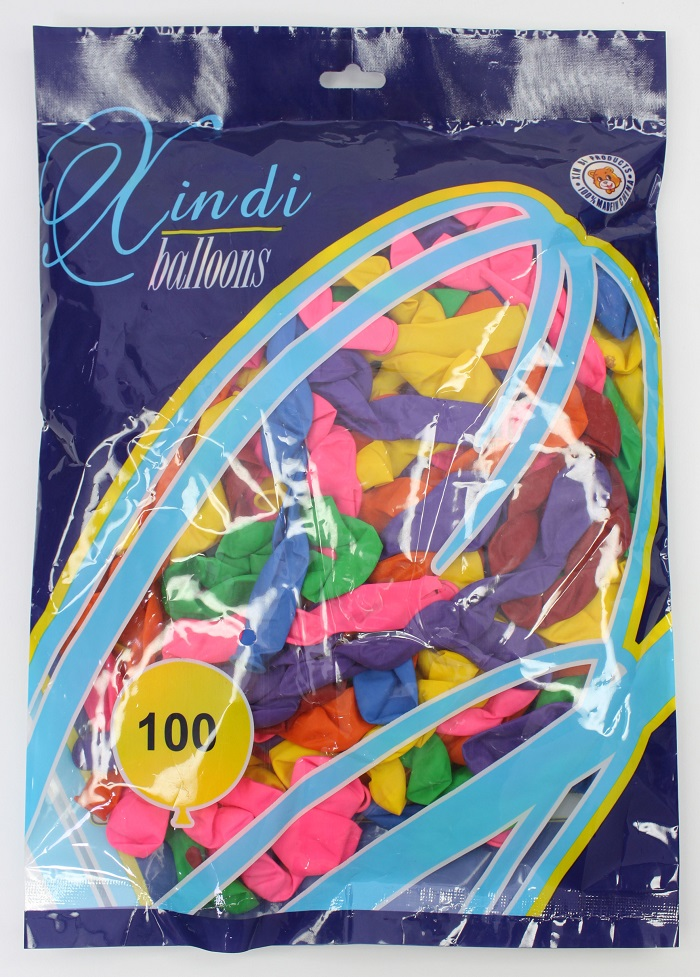 Colorful Spiral Balloons Latex -100Pcs/Pkt