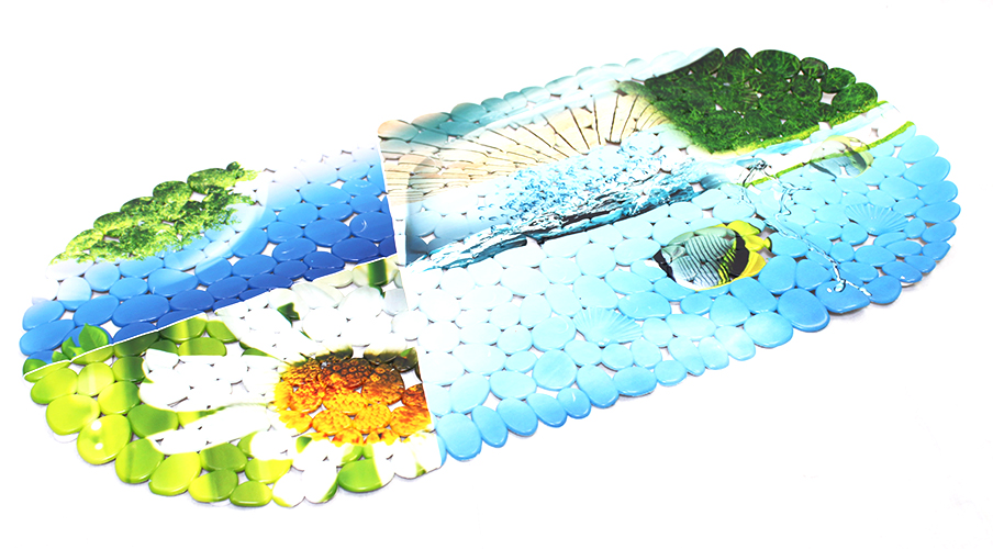 Bathlux Ocean Print Bathroom Non-Slip Mat