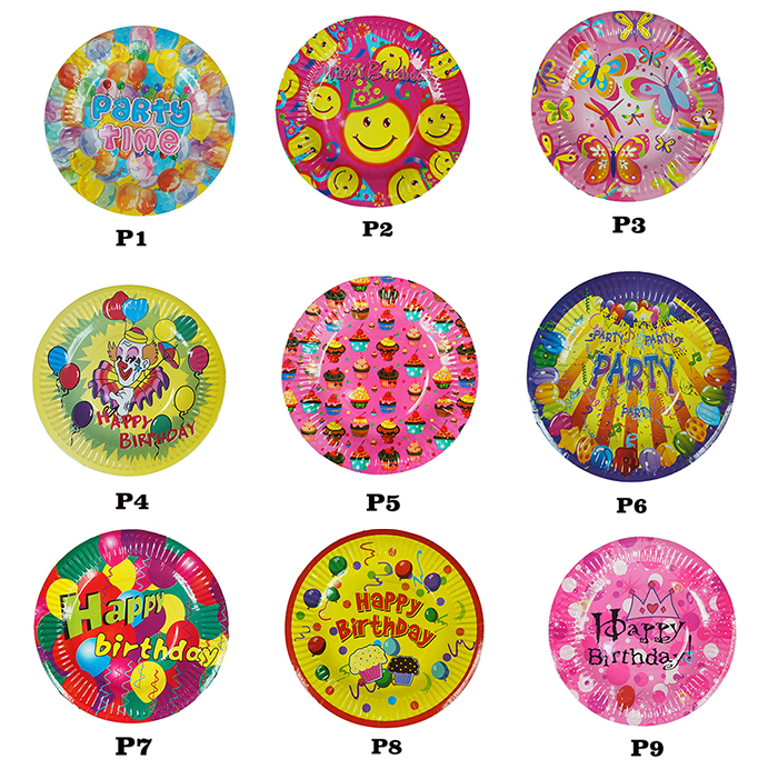 "Round Paper Dishes Party Plates 7"" (10pcs/pkt)"