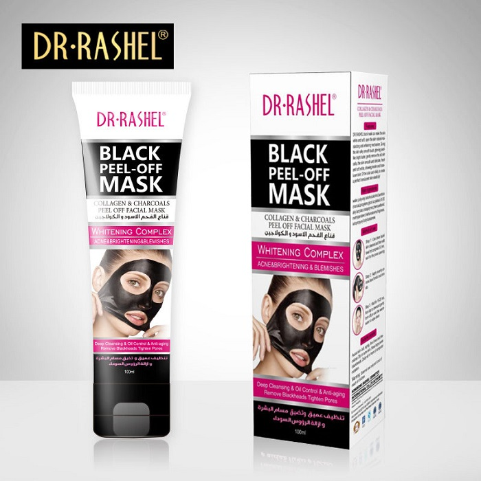 DR-RASHEL Black Mask Nose Blackhead Acne Remover Peel Off Facial Mask 100 ml