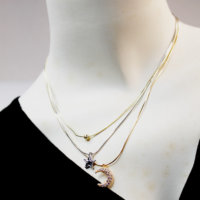 Beautiful Star And Moon Necklaces