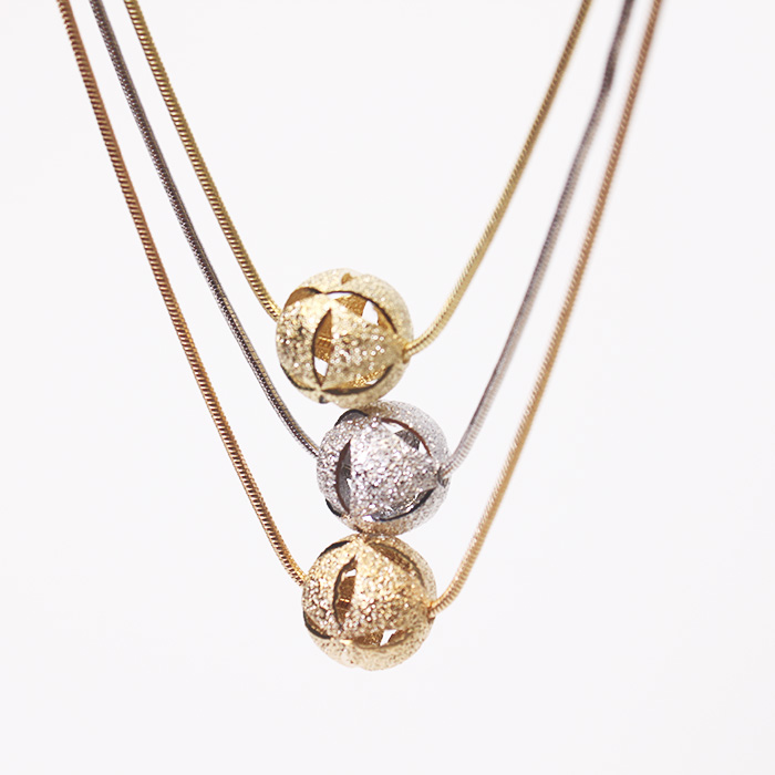 Large Triple Rope Round Happiness Necklaces