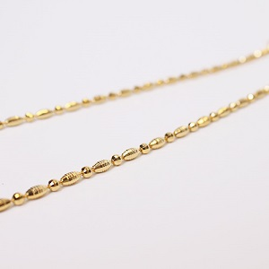 24k Round And Round Simple Necklaces
