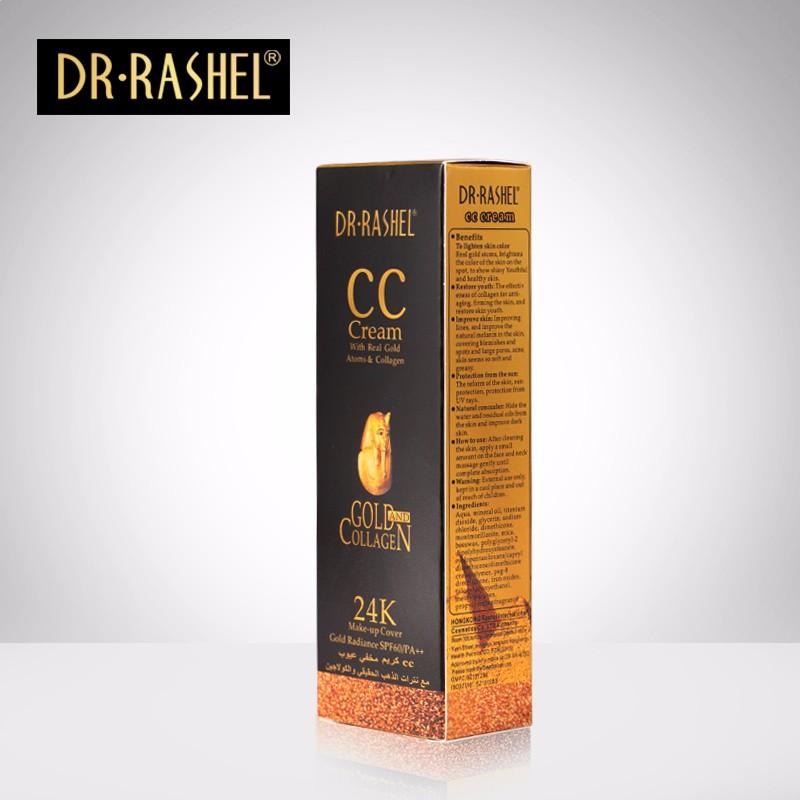 DR-RASHEL 24K CC Cream Make Up Cover With Real Gold Collagen Free Lighten Skin SPF60/PA+ 50ml