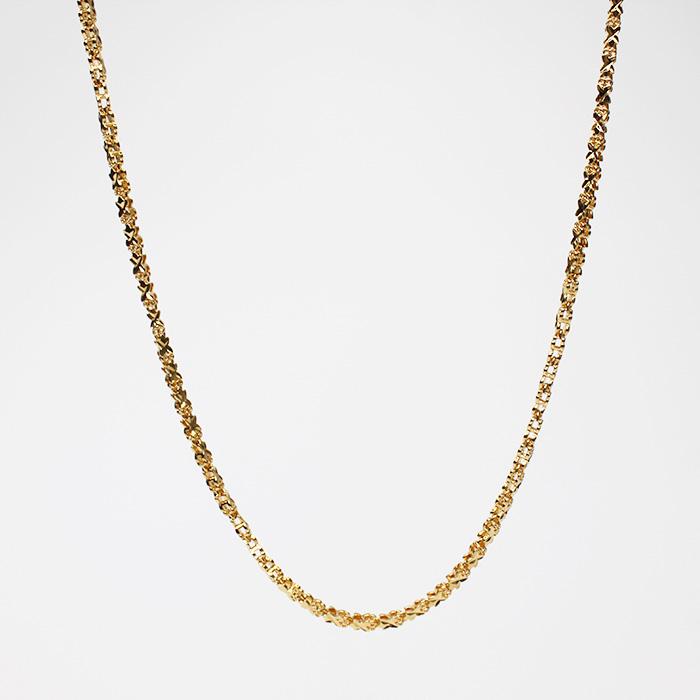 24k Simple Flower Design Round Necklaces