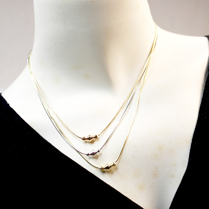 Triple Rope Necklaces With Earrings