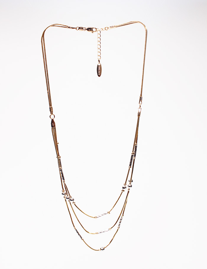 Modern Triple Rope Necklaces With Earrings